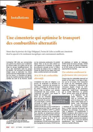 Article sur CBR Lixhe avec les solutions Optim'For Conveyors (OFC)
